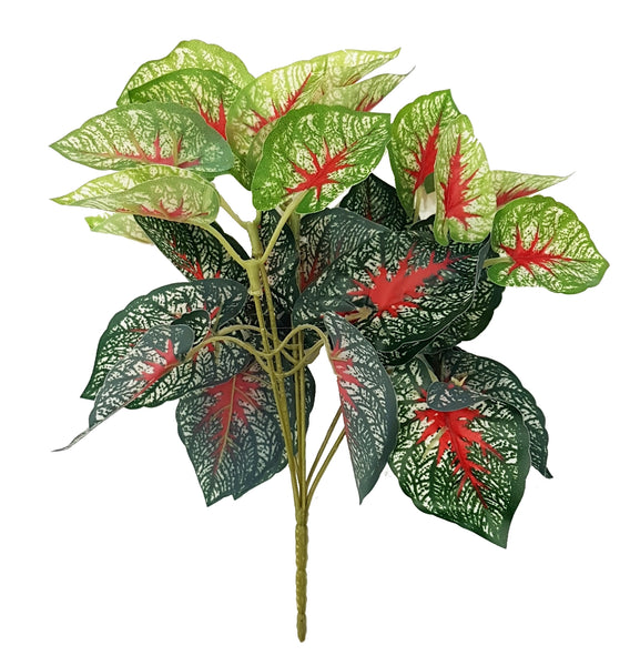Artificial Caladium (red) - LSG-021 (Length: 25cm)