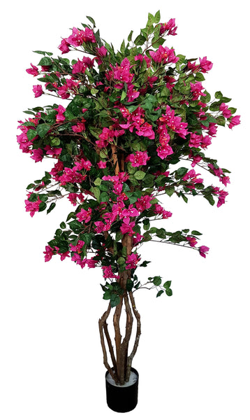 Artificial Bougainvillea Tree (180cm) - 25011-180 - Fucshia or White colour