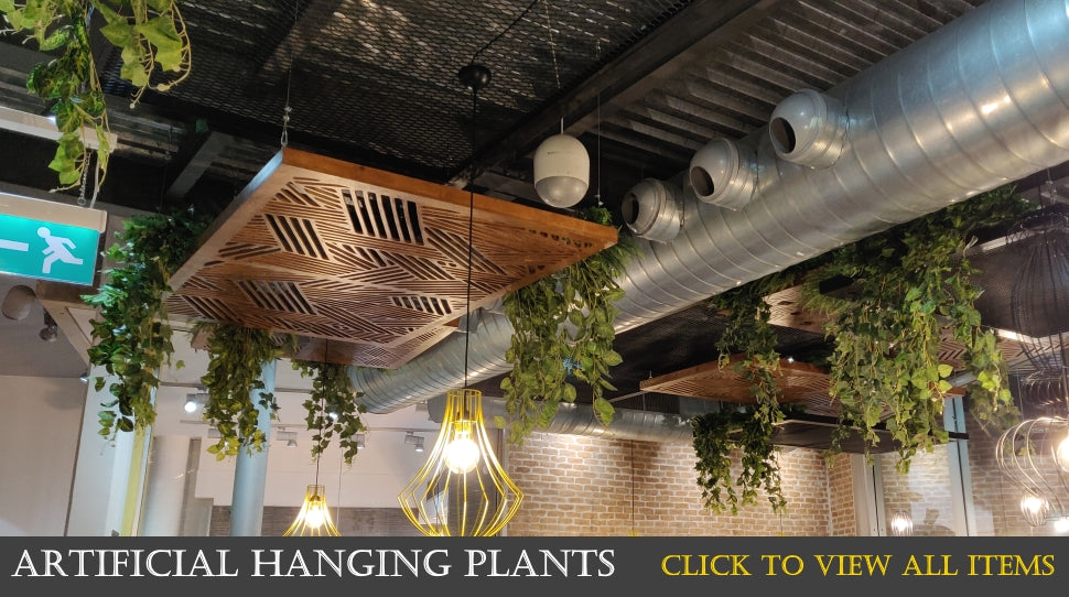 interior decorations with artificial plants