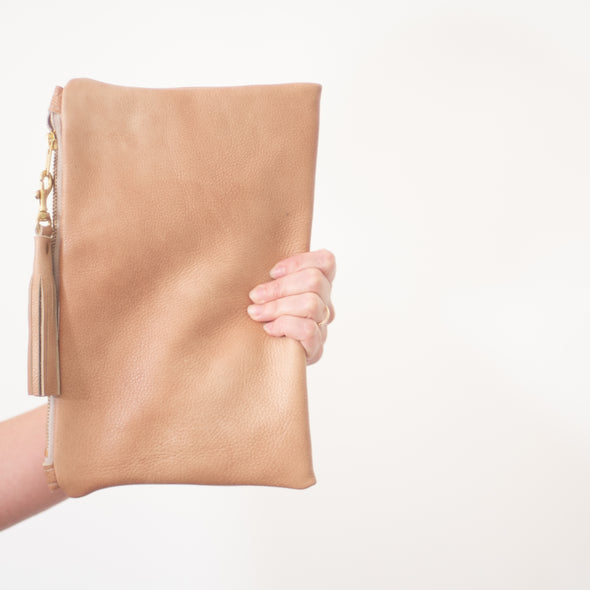 """Charis"" Leather Clutch"