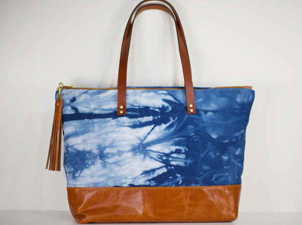 SALE Shibori Canvas Ashlyn Tote Bag