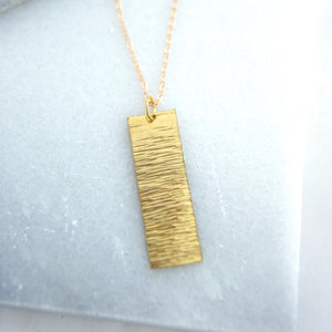 Brass Bark Necklace