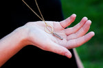 Brass Ring and Quartz Crystal Necklace