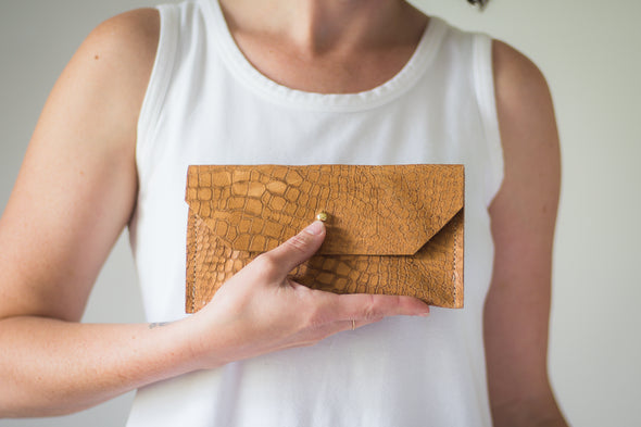 Leather Phone Clutch