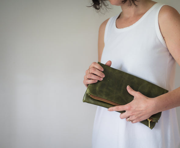 """Stephanie"" Fold Over Clutch"