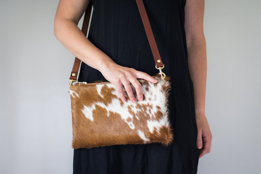 "Hair on Hide ""Wylie"" Cross Body Bag"