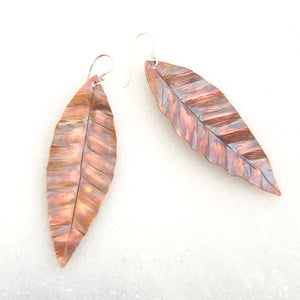 Large Leaf Earrings