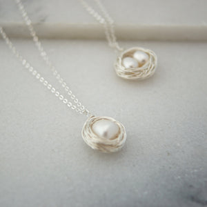 "Long 30"" Bird Nest Necklace"