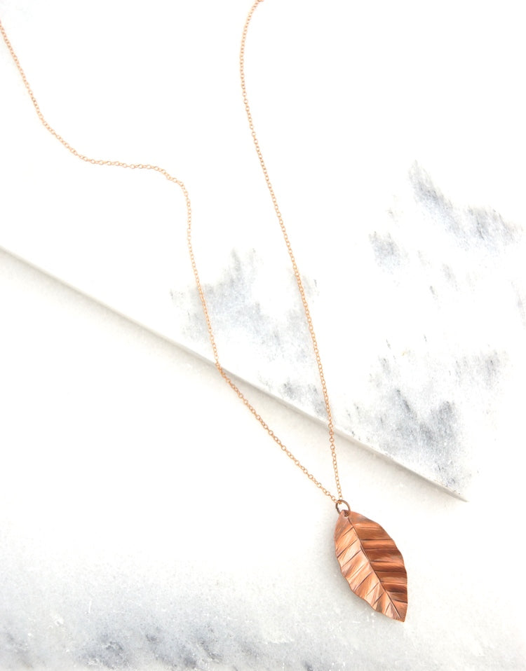 Medium Leaf Necklace