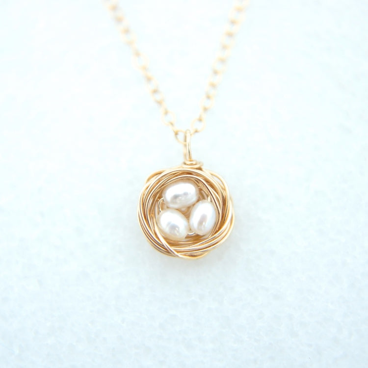 "Petite 16"" Bird Nest Necklace"