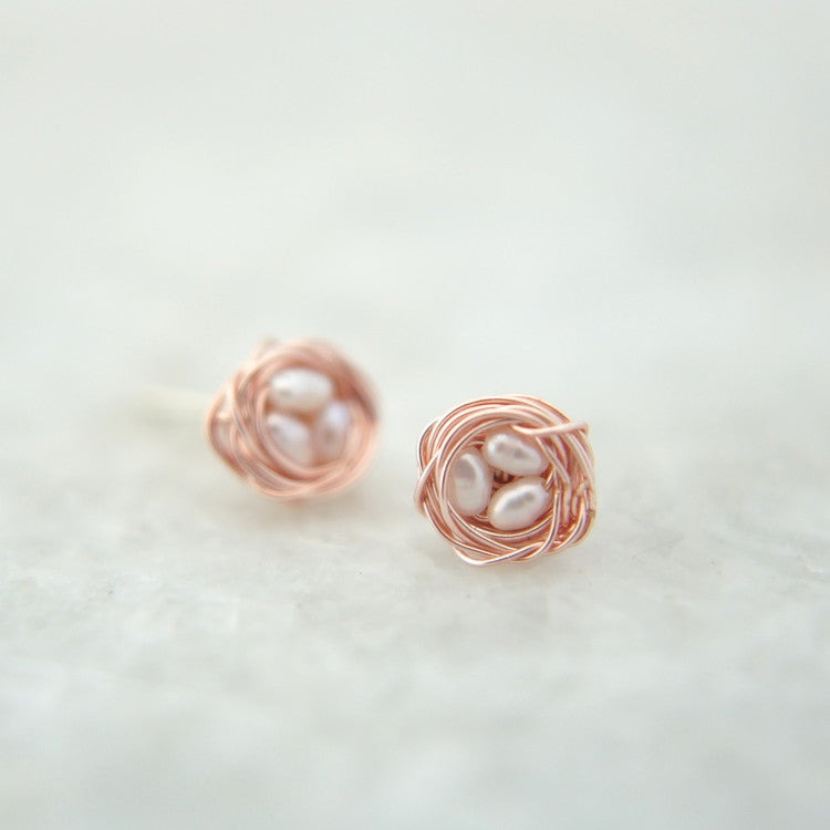Petite Bird's Nest Stud Earrings