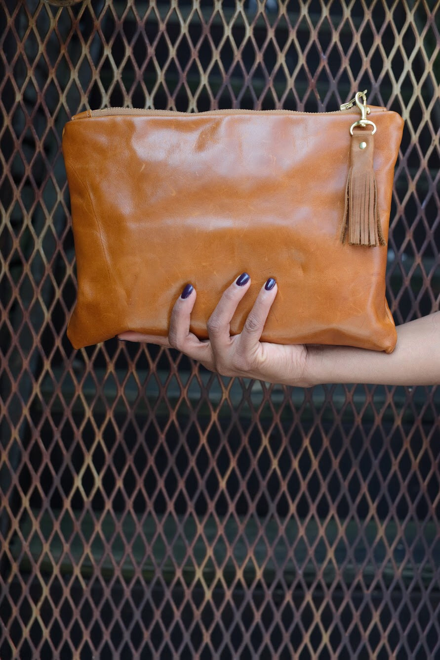 """Eloise"" Leather Clutch"