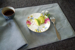 Fabric Placemats (reversible, gray) (4 pieces)