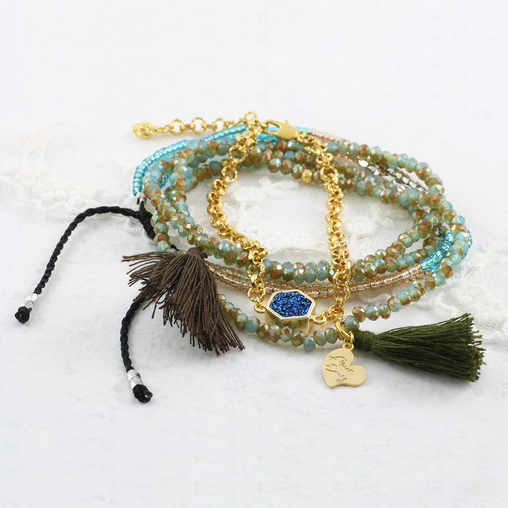 Embellished Tassel Bracelet - Soul Made Boutique