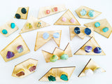 Adore Gemstone Earrings Collection - RAW - Blue Lace Agate Ear Studs