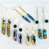 Adore Gemstone Earrings Collection - Blue Aqua Aura Quartz Earrings