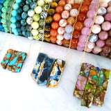 Adore Gems Collection - Agate and Jasper Colourful Necklaces