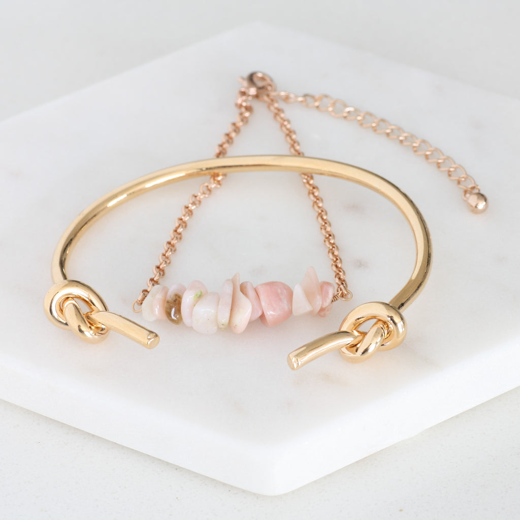 Adore Gemstone Collection - Pink Opal Bracelet