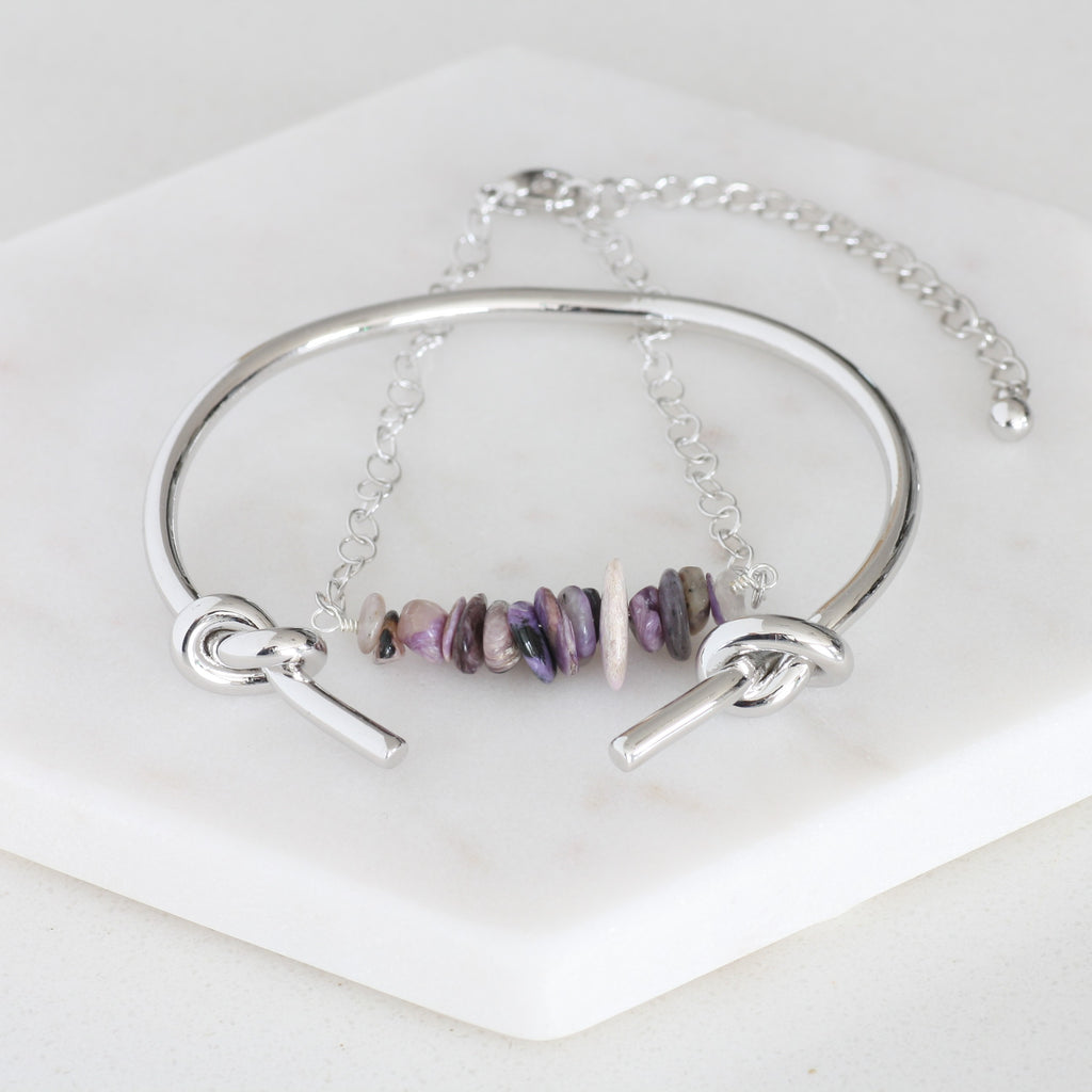 Adore Gemstone Collection - Purple Charoite Bracelet