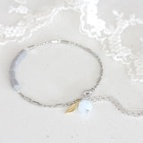 Adore Gemstone Collection - Aquamarine Feather Bracelet