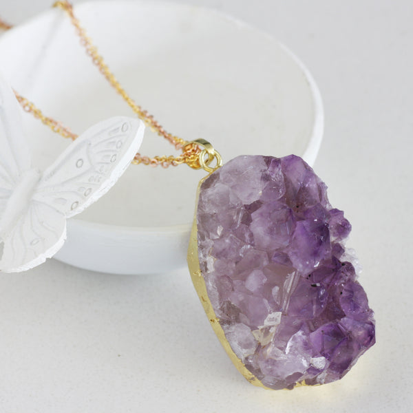 Adore Gemstone Collection - Amethyst Raw Necklace