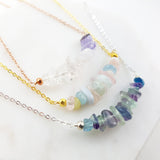 Adore Gemstone Collection - Petrified Wood Palette Necklace