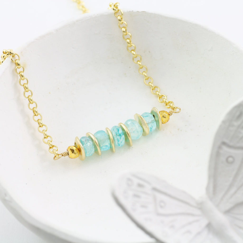 Adore Gemstone Collection - Blue Moonstone Necklace