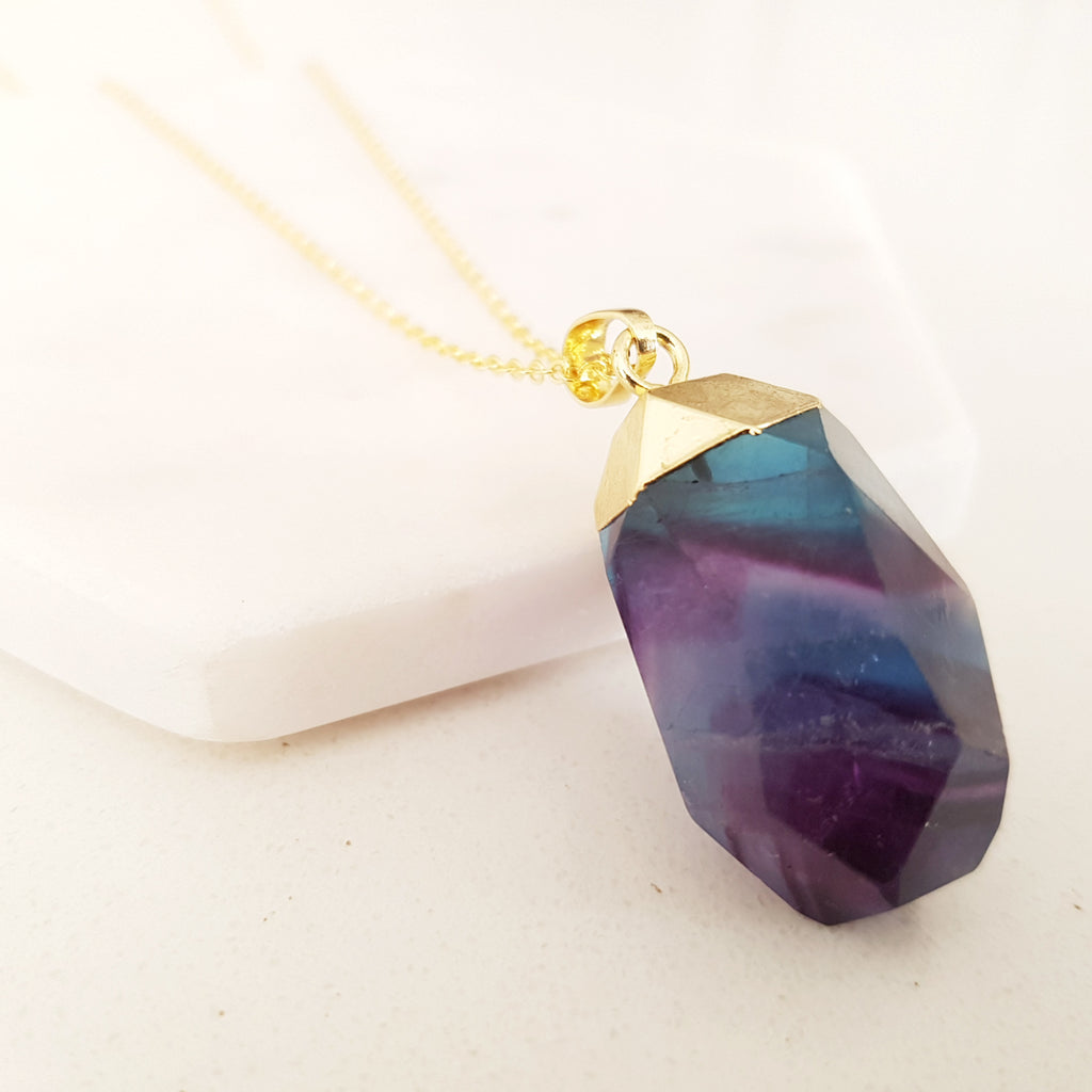 Adore Gemstone Collection - Fluorite Nugget Necklace