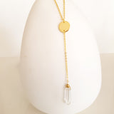 Adore Gemstone Collection - Pointed Clear Quartz Necklace