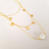 Adore Gemstone Collection - Organic Moonstone Layered Necklace