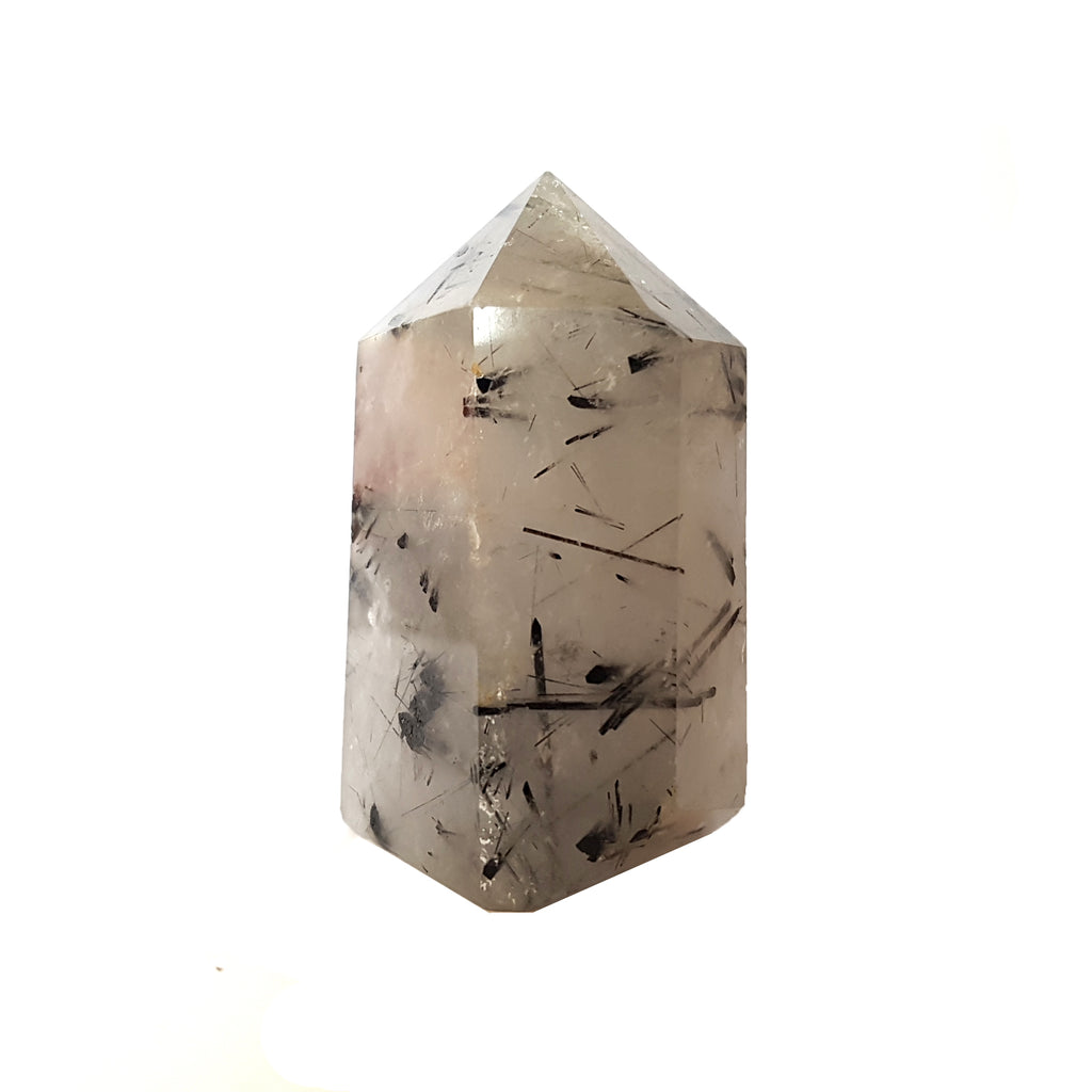 Nature Treasure - Tourmalinated Quartz Pyramid Tower - The Good Vibe Stone