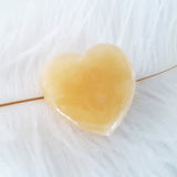Nature Treasure - Yellow Jade Heart Stone