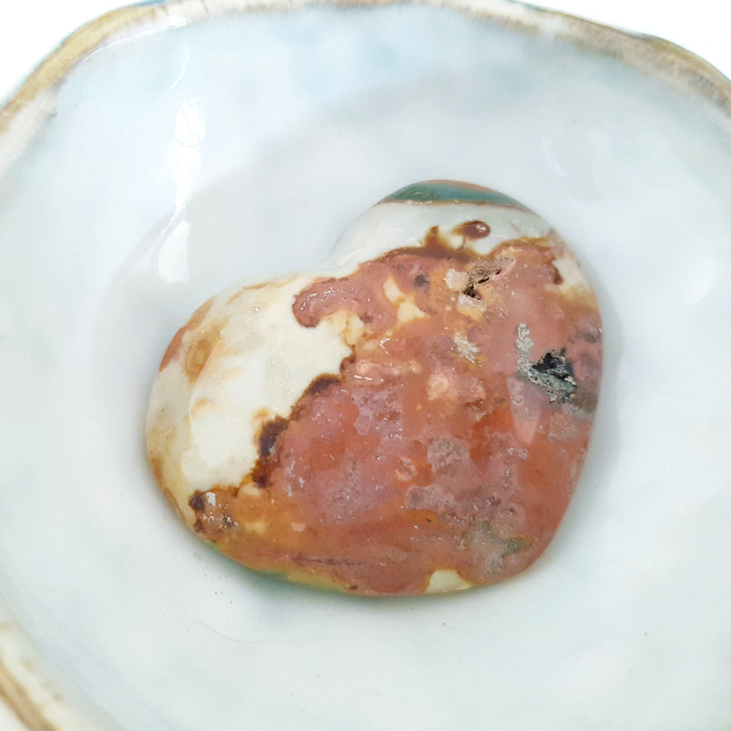 Nature Treasure - Ocean Jasper Heart Stone