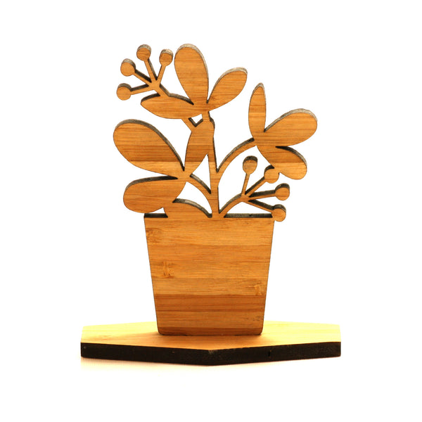 Wooden Floral Display Ornament