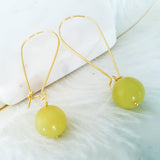 Adore Gemstone Earrings Collection - Lemon Jade Earrings