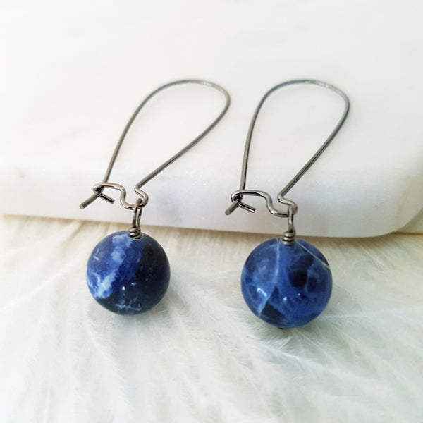 Adore Gemstone Earrings Collection - Lapis Lazuli Earrings