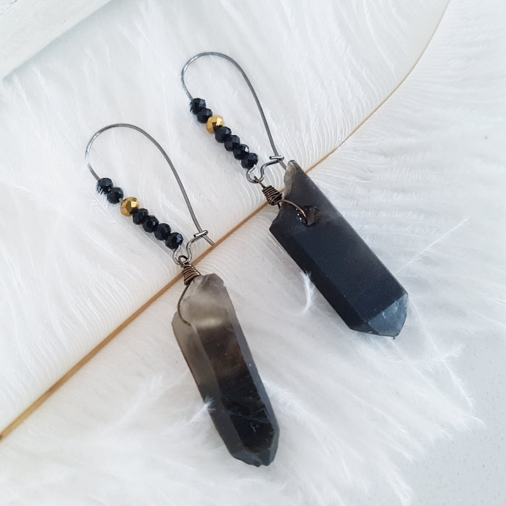 Adore Gemstone Earrings Collection - Smoky Quartz Earrings