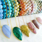 Adore Gemstone Collection - Inverse Teardrop Phoenix Turquoise Necklace