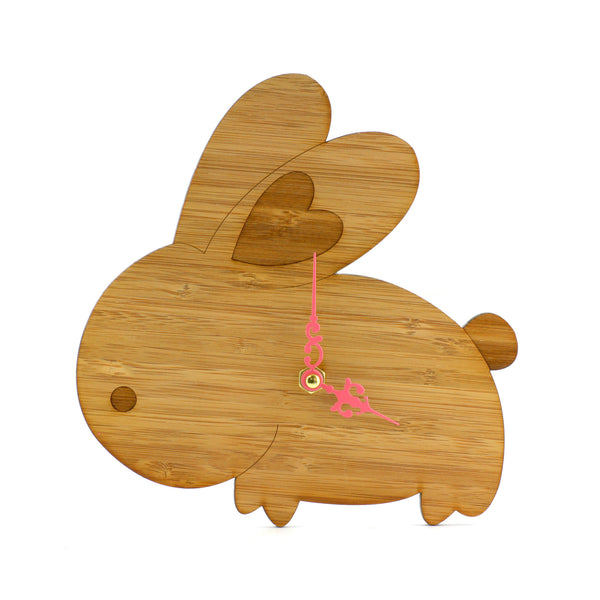 Wooden Clock - Rabbit