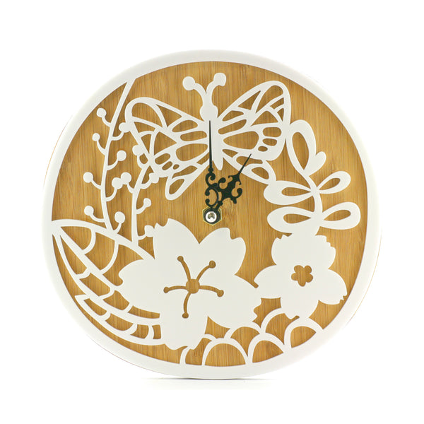 Wooden Clock - Secret Garden