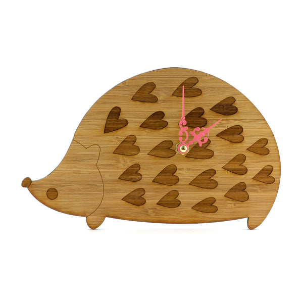 Wooden Clock - Hedgehog