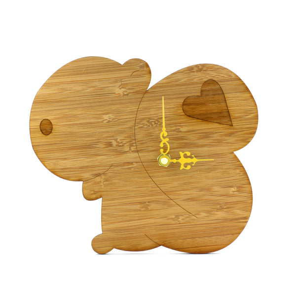 Wooden Clock - Squirrel