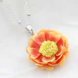 Delicate Hand-Moulded Flower Necklace