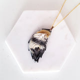 Charismatic Wanderlust Collection - Horn Necklace Love Feather