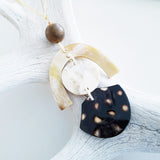 Charismatic Wanderlust Collection - Horn Necklace Fossilized Wood Over the Moon