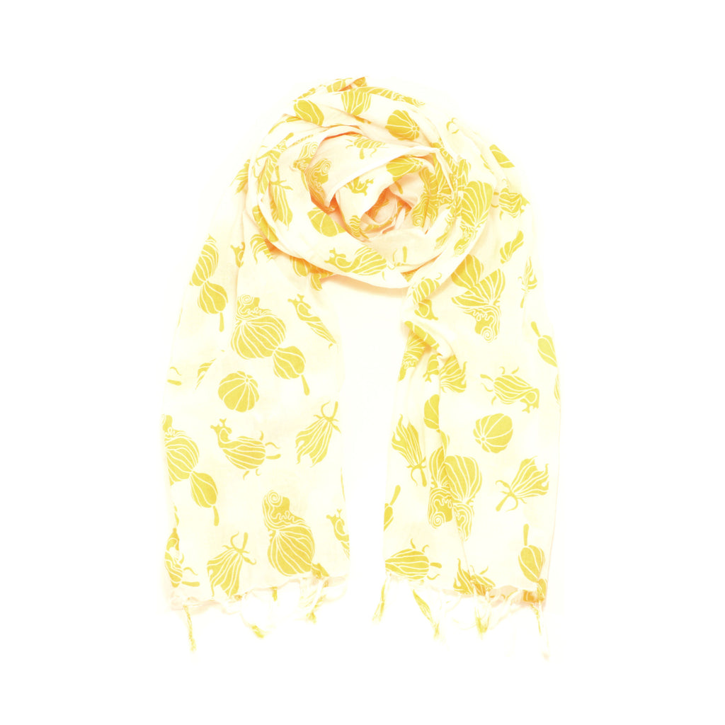 Screen Printed Squash Scarf