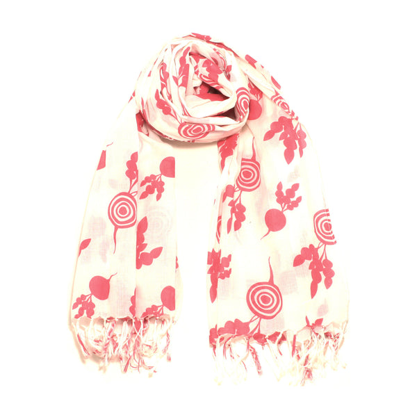 Screen Printed Beetroot Scarf