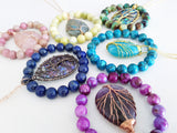 Adore Gems Collection - Abalone Shell Tree of Life Necklace
