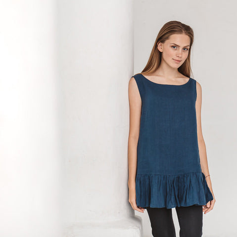 Alicia Sleeveless Linen Top