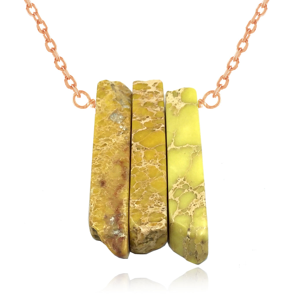 Adore Gemstone Collection - Jasper Bar Strand Necklace - Soul Made Boutique
